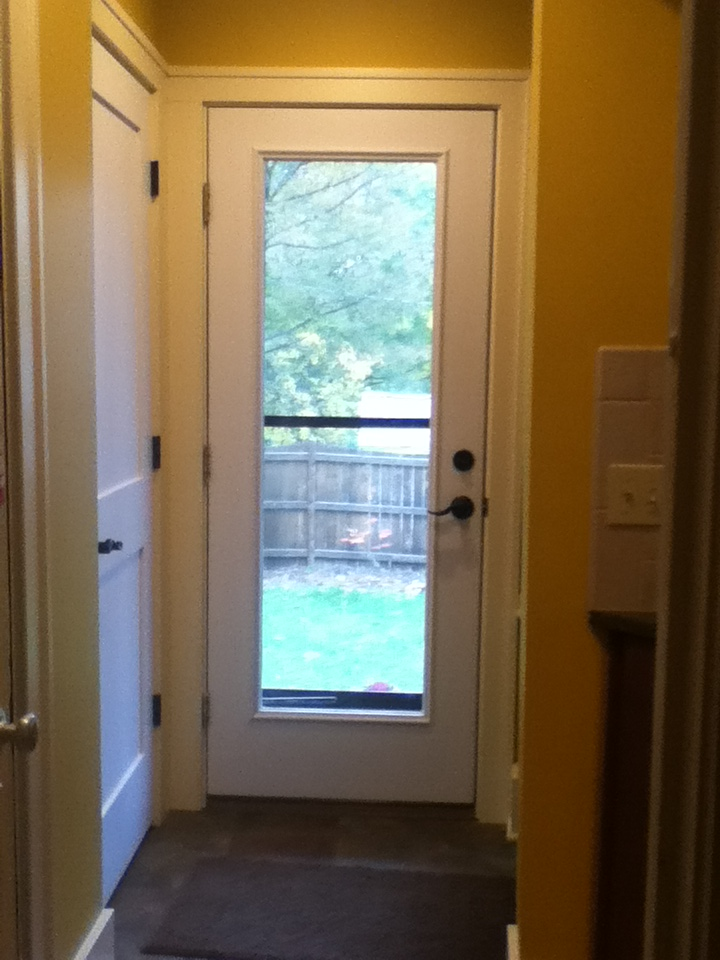 Entrance to Mudroom Addition
