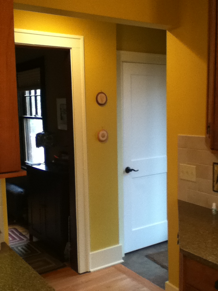 Mudroom Addition interior entrance