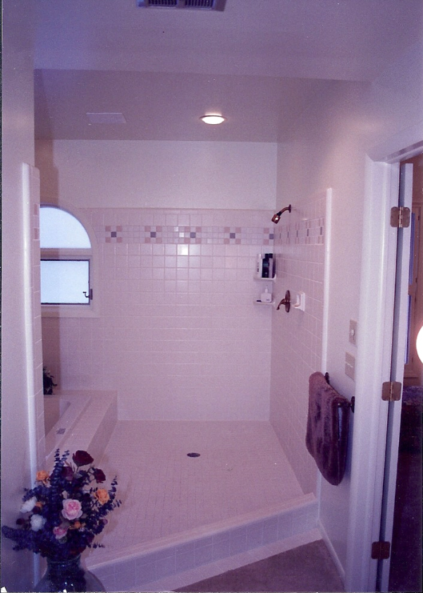 Ceramic Tile Shower and Tub