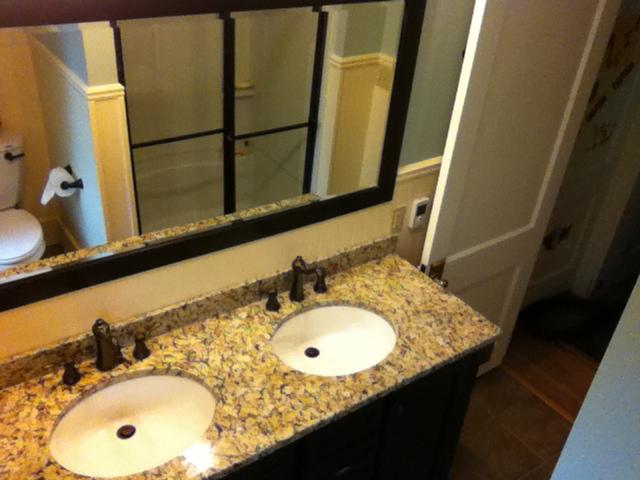 Bathroom Sink and Vanity Remodel After