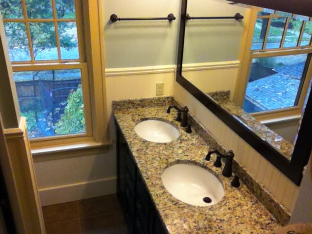 Bathroom Remodel Vanity and Mirror