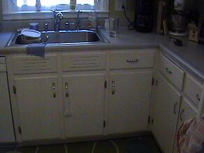 Old Kitchen Cabinets and Sink