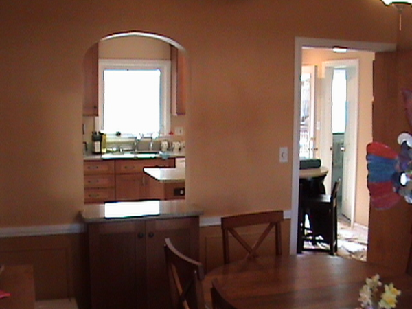 Cased Archway into Kitchen Remodel
