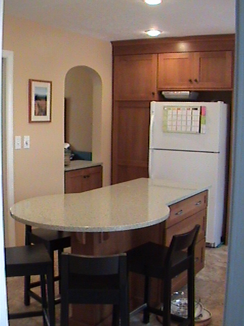 Remodeled Kitchen Island