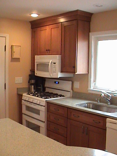 Remodeled Kitchen Range Cabinets