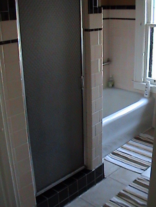 Ceramic Tile Shower Before Remodel