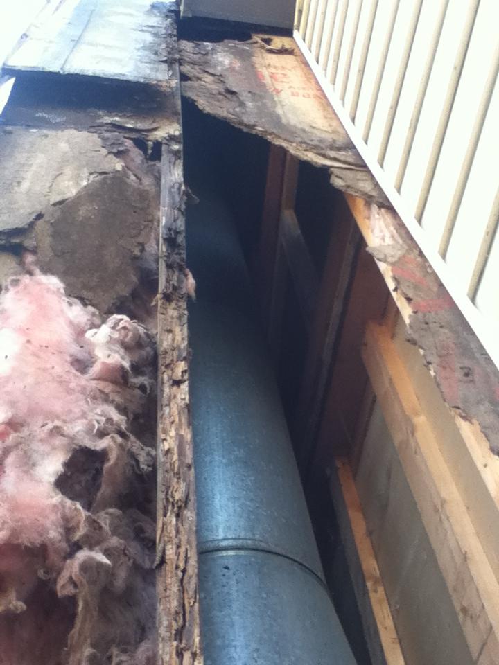 Chimney Wall Water Damage