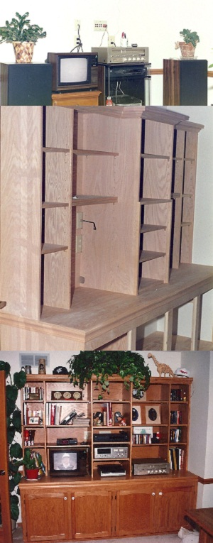 Custom Carpentry  Entertainment Center3