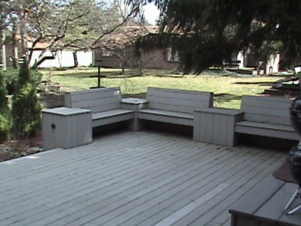 Benches on Custom Deck Addition