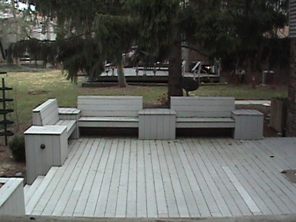 Deck Addition Custom Benches