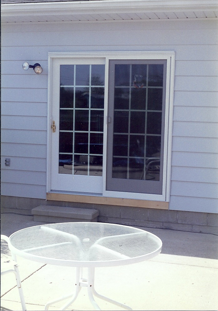 Replaced Sliding Glass Door