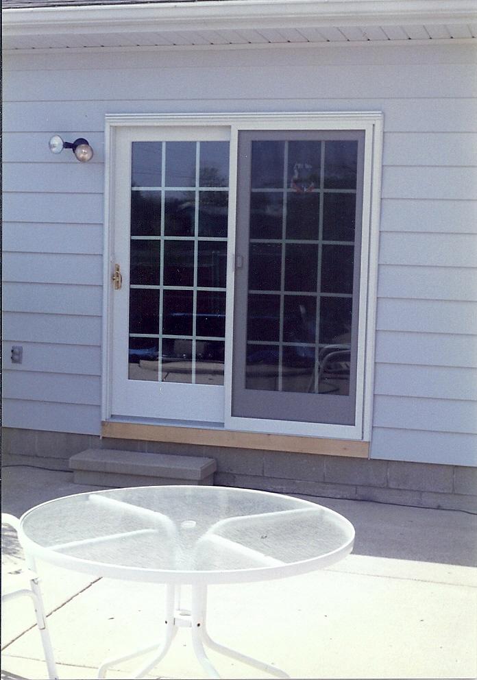 Replaced Sliding Glass Door