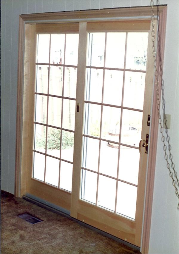 Sliding Glass Door Interior Installation