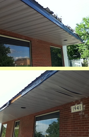 Metal Awning Roof Damage