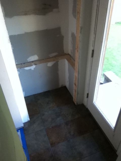 Ceramic Tile Mudroom Addition