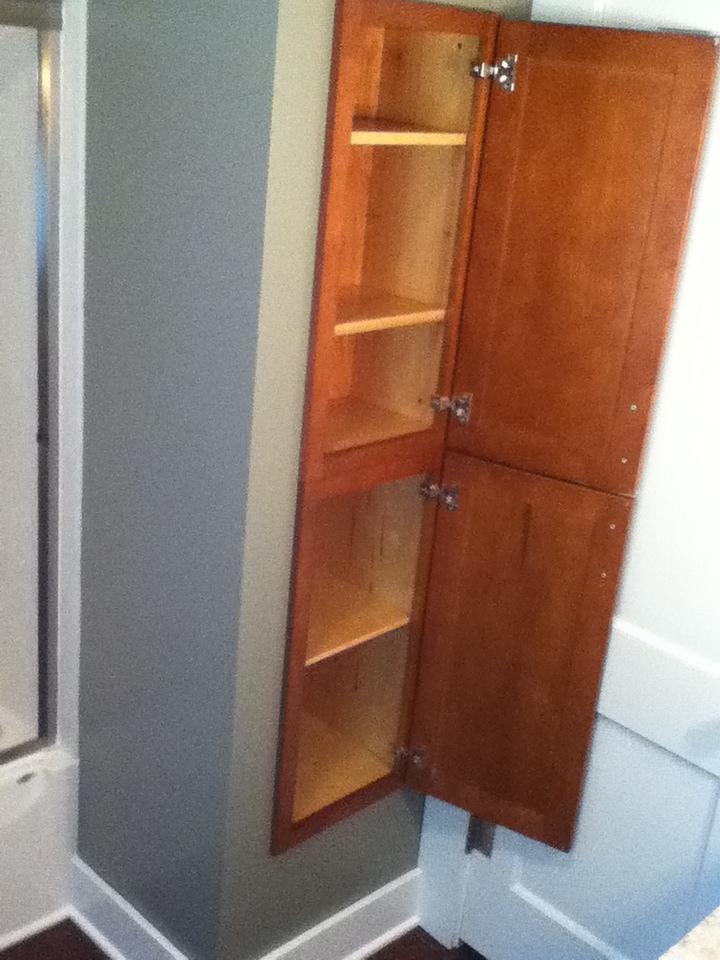 Remodeled Custom Linen Closet After