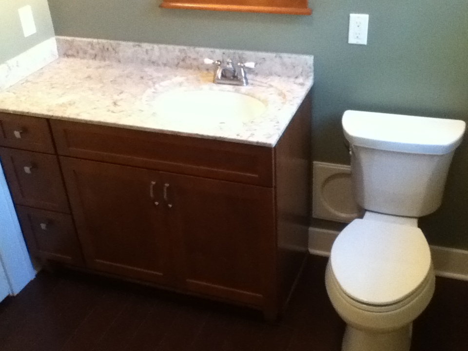 Remodeled Vanity with Stool