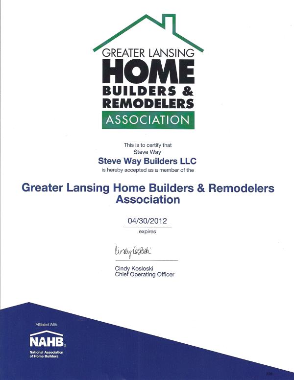 Home Builders Certificate