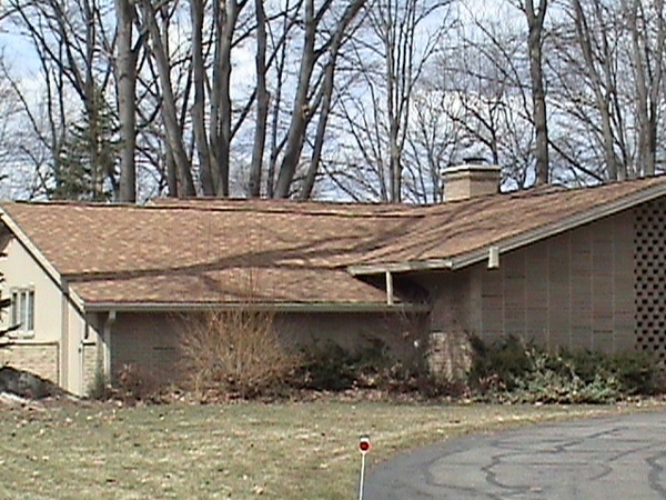 Side view of shingled re-roof.