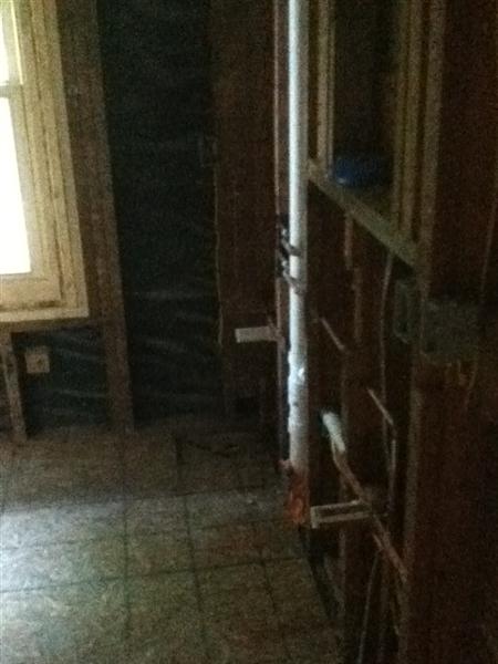 Demolition to bare studs for bathroom remodel