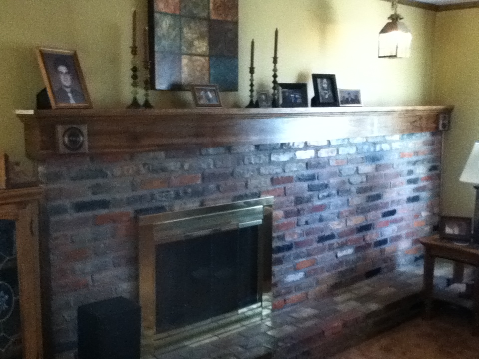 Wood Fireplace Mantel