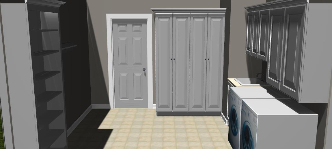 Custom Mudroom Cabinetry 3D Design