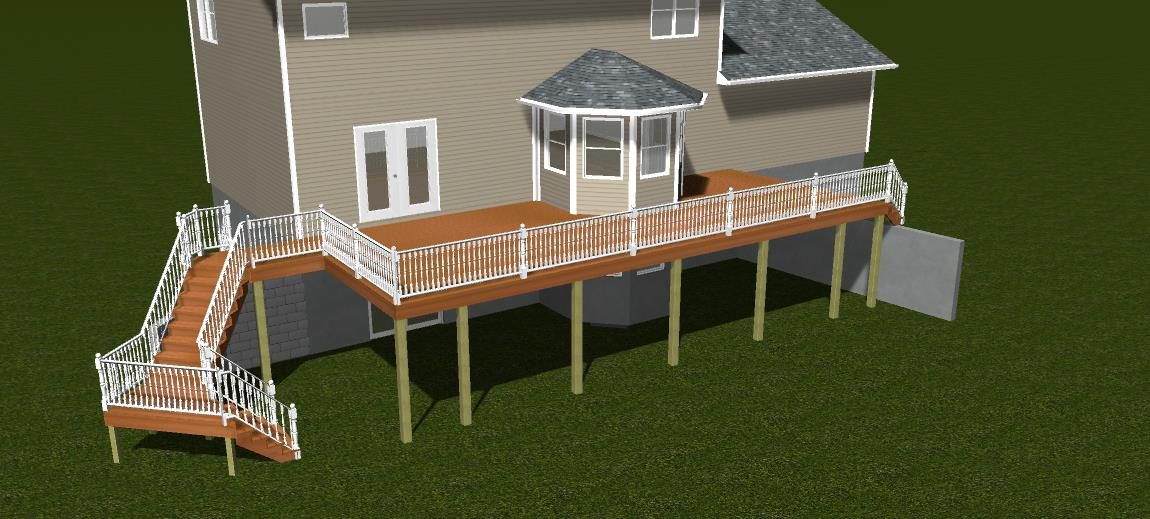 Deck Addition 3D Design