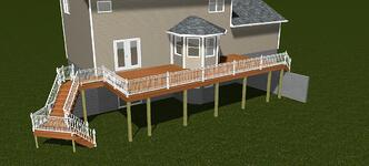 Deck Addition 3D Design