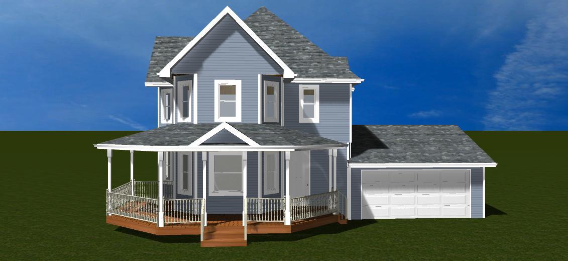 Front Porch Addition 3D Design