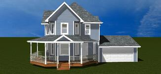 Front Porch Addition 3D Design