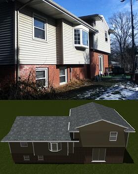 3D Tri-Level Home Addition Design   Steve Way Builders, LLC